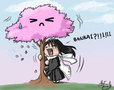 Byakuya et son bankai Bleach