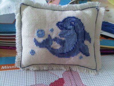 Mini coussin Dauphins