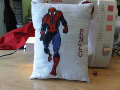 coussin spiderman d'enzo