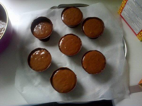 Coupelles en chocolat avec sa mousse au chocolat