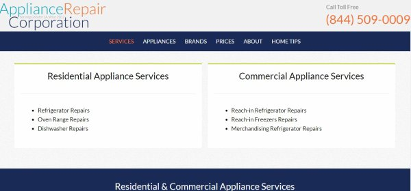 Appliancerepaircorp.com