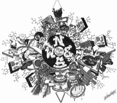World hip hop dessin - Coloriage hip hop ...