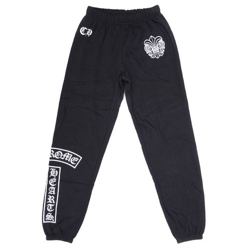 Cheap Black Chrome Hearts CH Logo Cotton Pants