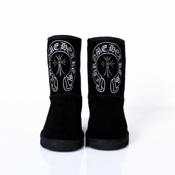 Chrome Hearts circular cross short boots