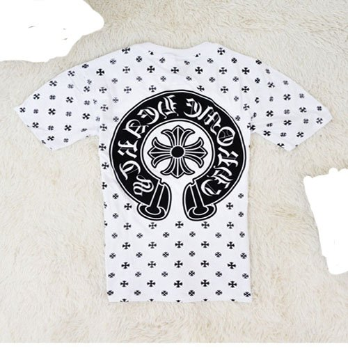Chrome Hearts cross pattern horseshoe sleeved T shirt