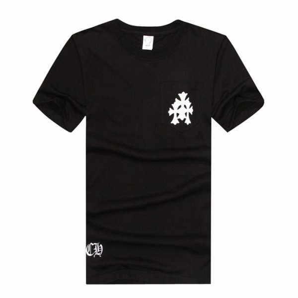 CHROME HEARTS composed of vertical cross-sleeved T-shirt