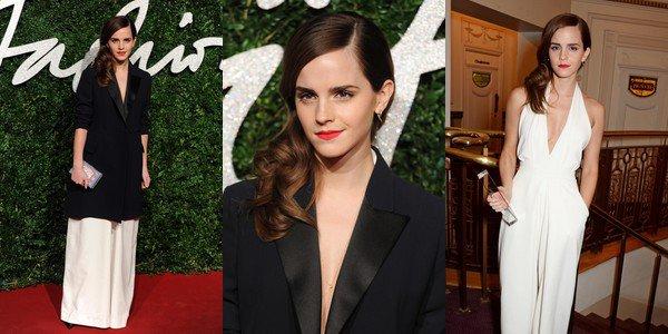 1 déc 2014 : Emma récompensée aux British Fashion Awards à Londres