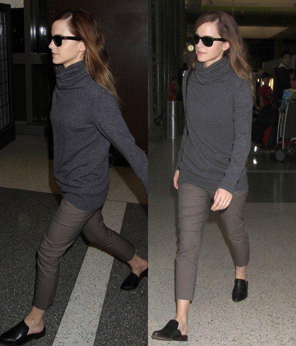 31 oct 2014 : Emma quitte Los Angeles après les Britannia Awards