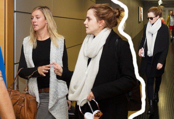 12 oct 2014 : Emma arrive au Luxembourg pour le tournage de son film Colonia