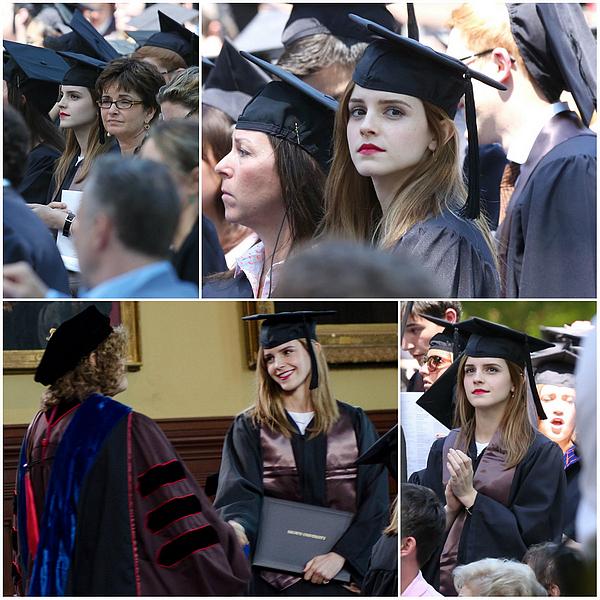 25 mai 2014 Emma à sa cérémonie de remise des diplômes