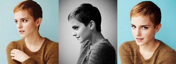 Octobre 2010 Emma se coupe les cheveux (très) courts.