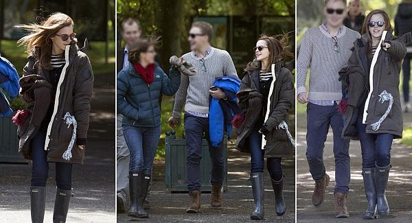 6 juin 2015 Emma avec des amis à Edimbourg (♥) en Ecosse