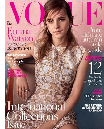 Emma Watson en couverture du Vogue UK !