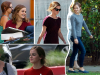 September 2015: Emma sur le tournage de The Circle à Los Angeles
