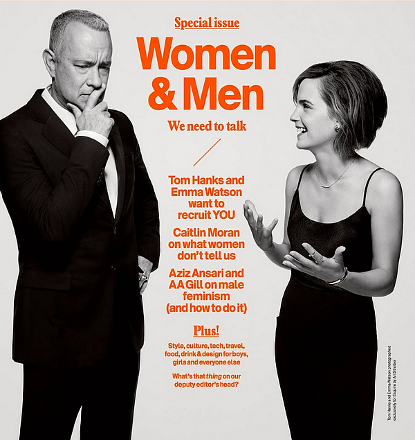 4 mars Emma en couverture du magazine Esquire avec Tom Hanks
