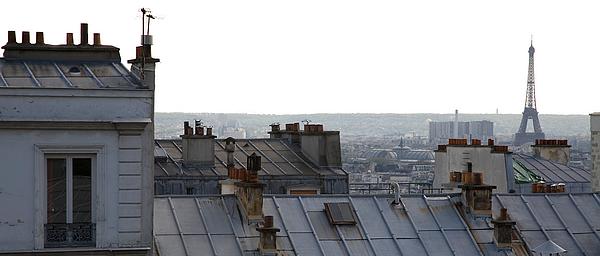 Juin 2017 Séance photo sur les toîts de son hôtel parisien