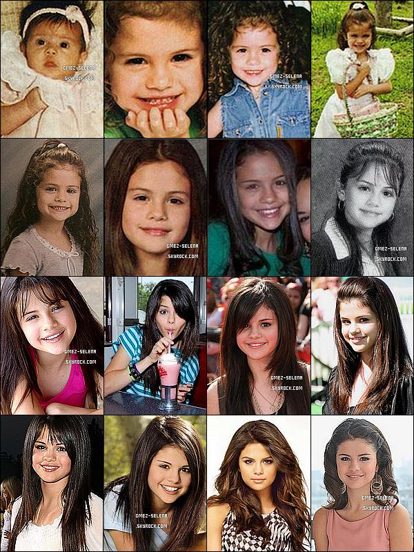 . L'évolution de la ravissante Selena Marie Gomez depuis 1992 à aujourd'hui.