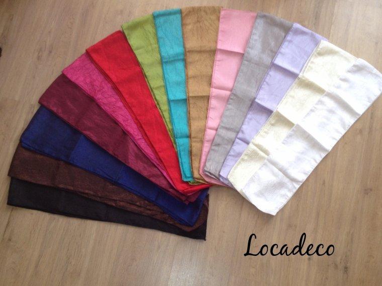 Coloris disponibles pour les noeuds taffetas