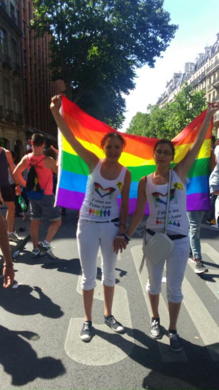 Première participation à la Gaypride de Paris