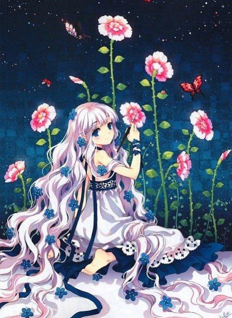 Fille manga fleur liko for Fleurs online