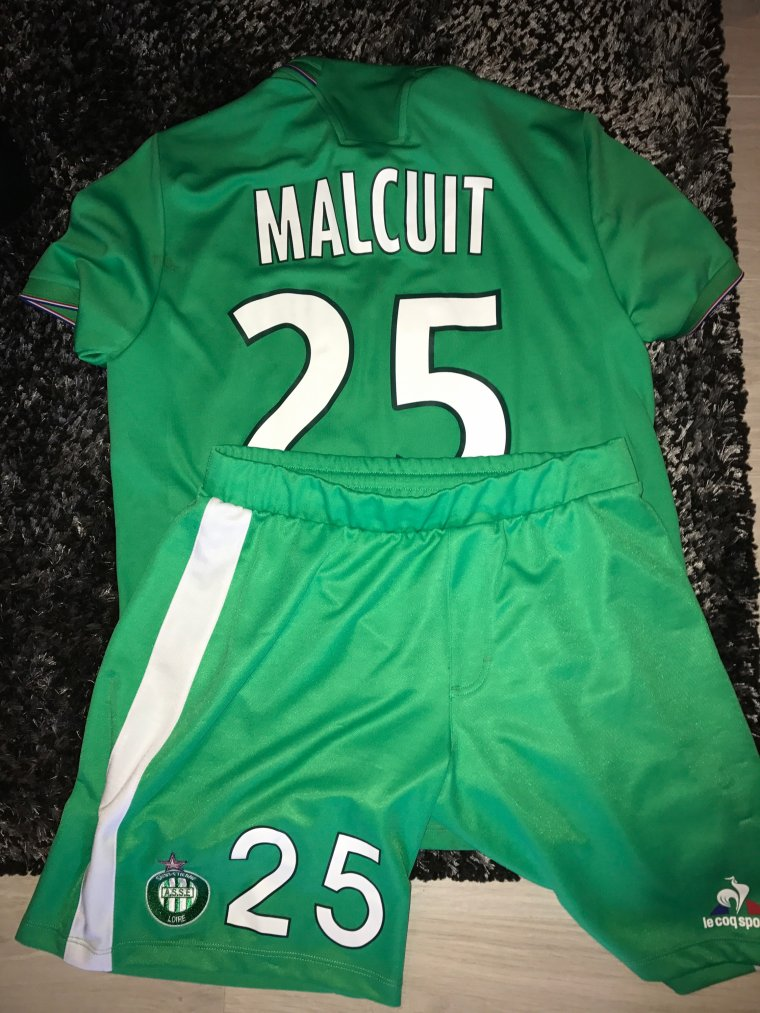 Short porté par Kevin Malcuit lors de Manchester United VS ASSE Europa league