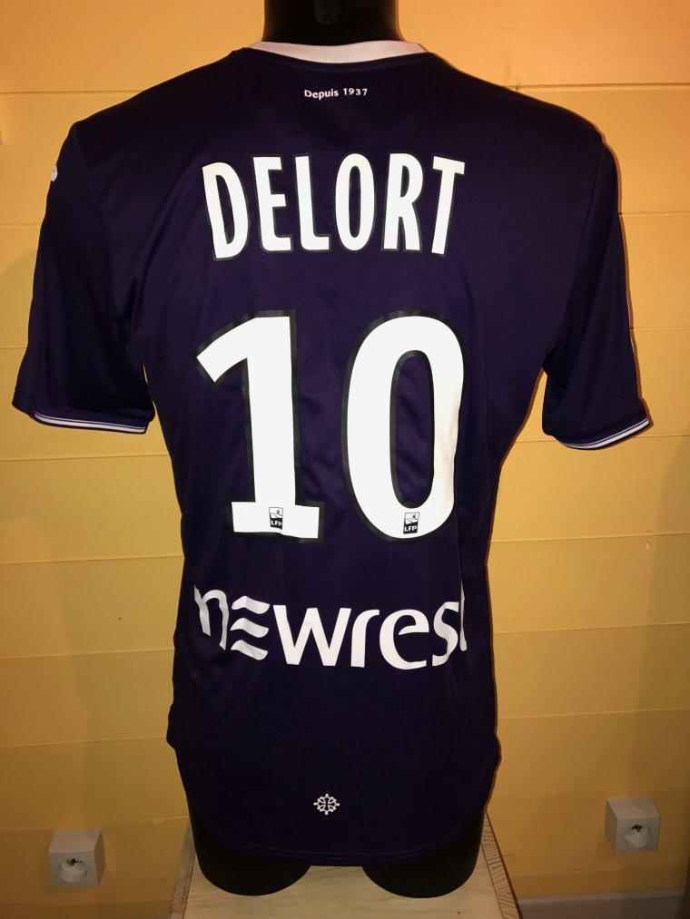 Maillot porté par Andy Delort lors de TFC vs Bordeaux 15 Septembre 2017 1 ere mi temps