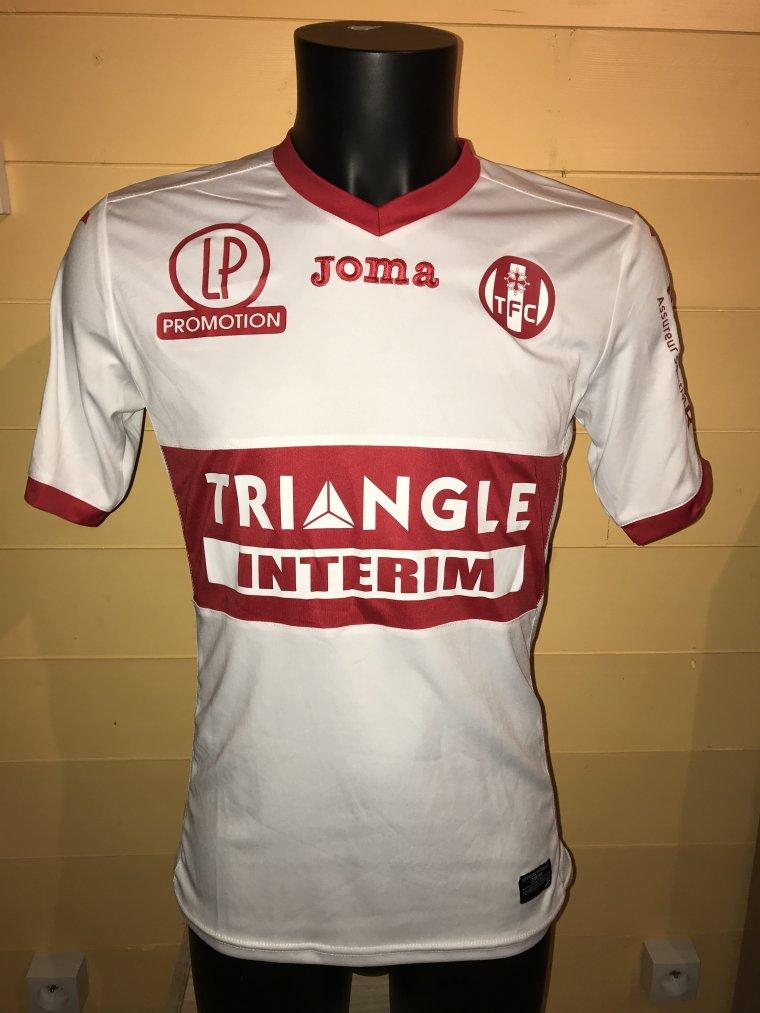 Maillot porté par Yannick Cahuzac lors de Troyes vs TFC