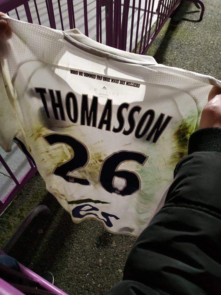 Maillot porté par Adrien thomasson lors de TFC vs RC STRASBOURG 13/01/19