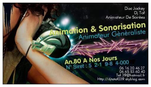 Préférence Ma Carte De Visite - Animation & Sonorisation WH71