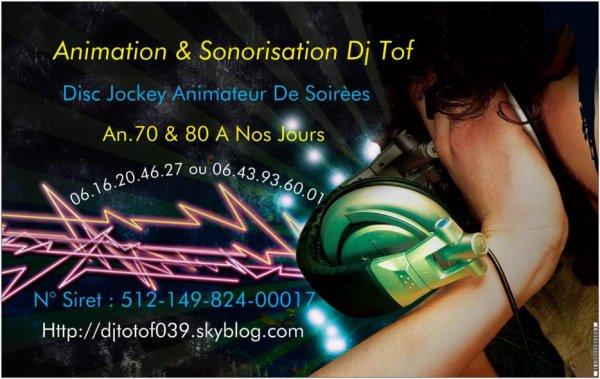 Page Facebook Animation & Sonorisation Dj Tof