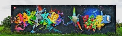 graffiti snake