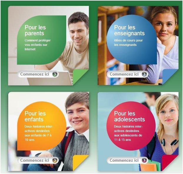 La sécurité des jeunes en ligne