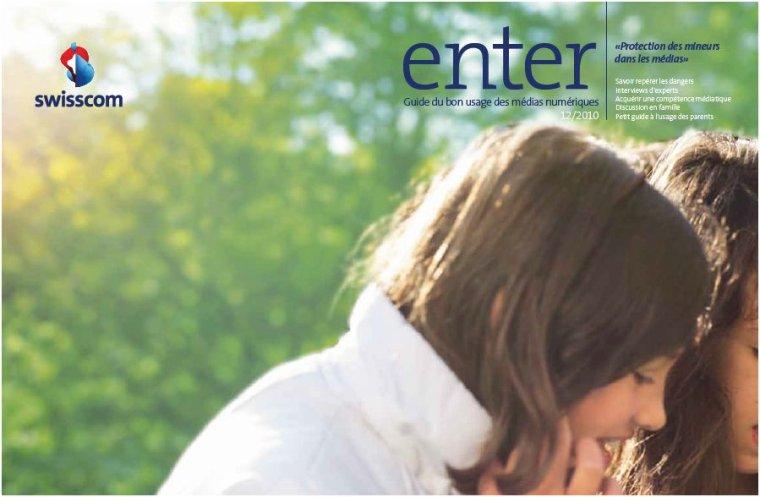 «enter» - Protection de la jeunesse face aux médias et Swisscom