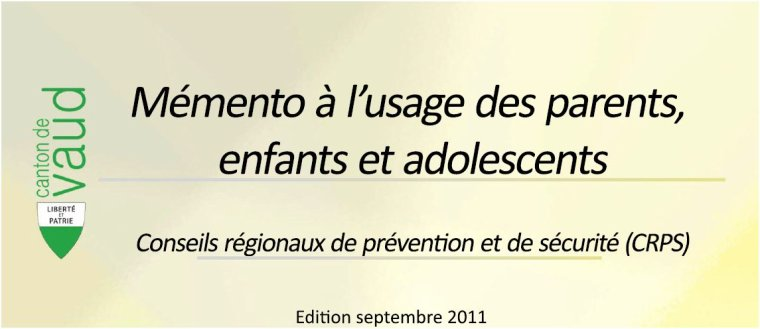 Mémanto à l'usage des parents, enfants et adolescents