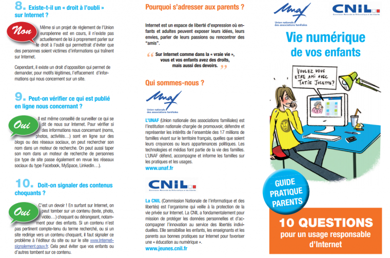 10 QUESTIONS pour un usage responsable d'Internet