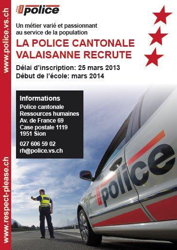 La Police cantonale recrute