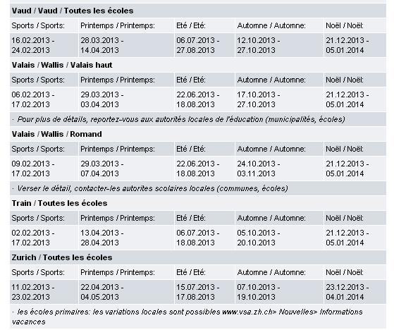 CALENDRIER SCOLAIRE 2013 -2014