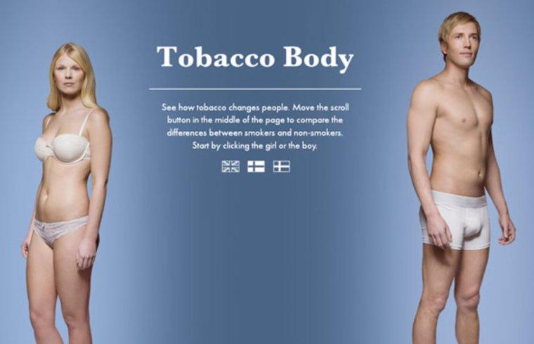 Le tabac dégrade le corps, la preuve en images