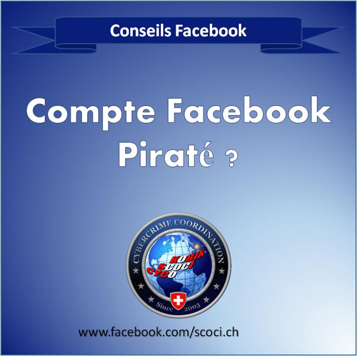 Compte FACEBOOK piraté ?