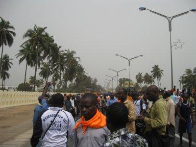 Déclarations des ODDH à l'issue de la marche de protestation du 11 fevrier 2012 lu par Me Zeus AJAVON.