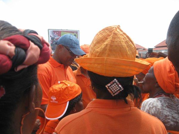 VERITABLE DEMONSTRATION DE FORCE DE L'ANC DANS LES RUES DE LOME CE SAMADI 12 MAI 2012