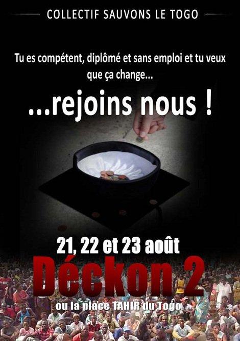 JOUR J -6: REJOIGNEZ NOUS ! DECKON 2,  21, 22, 23 AOUT. SORTEZ ET FAITES L'HISTOIRE DE VOTRE PAYS.