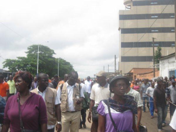 DEUXIEME JOUR DE MANIFESTATION A LOME POUR RECLAMER LES REFORMES EN VU D'UNE ELECTION CREDIBLE AU TOGO.