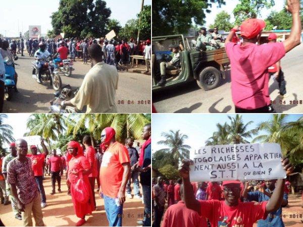 Togo, le règne du gaz lacrymogène : La Grande marche de la STT réprimée de Lomé à Dapaong. Faure au sommet de son jeu de la brutalité…