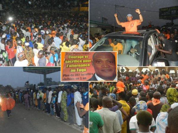 Région centrale : Forte mobilisation des populations derrière Jean-Pierre Fabre. Voter Fabre, Voter un Togo meilleur !