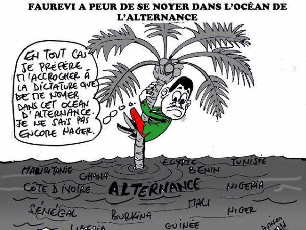Démocratie à l'ouest, Démocratie à l'est, Démocratie au nord, meme au Sud dans l'océan atlantique pourtant ,le Togo reste un  îlot de dictature dans un océan d'alternance