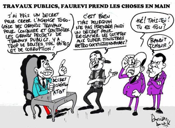 Travaux public et lutte contre la corruption au Togo : Faure Gnassingbé manque de courage et déplace les problèmes. Tshuuan !