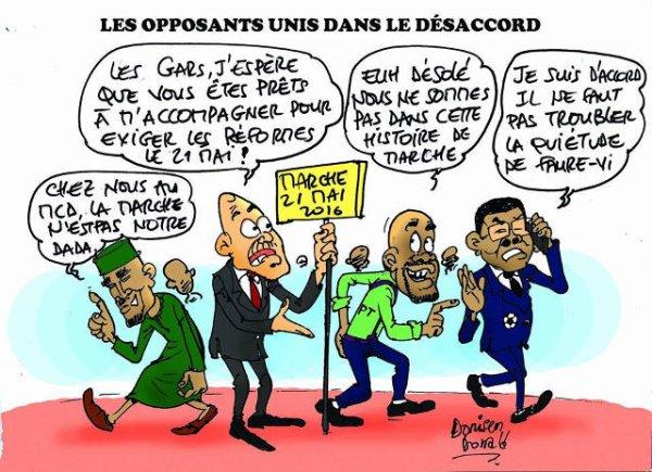 Il y a 3 types d'« opposants » au Togo : Ceux font quelque chose. Ceux qui ne font rien. Et ceux qui torpillent tout et roulent pour le pouvoir.