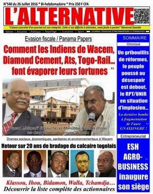 Panama Papers, Togo : Les Indiens de Wacem et leurs complices togolais, passés maîtres de l'évasion fiscale…