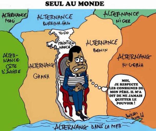 Togo : Seul pays ouest-africain sans alternance démocratique ! Chuan